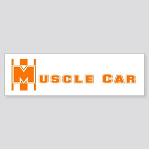 Retro Muscle car stripe-orang Bumper Sticker